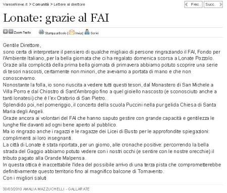 Varesenews del 30 marzo 2010