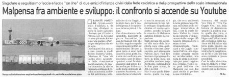 La Prealpina del 3 aprile 2010