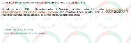 sito Comune di Lonate Pozzolo