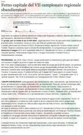 VareseNews del 23 aprile 2010
