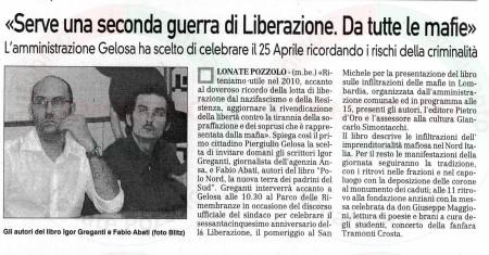 La Prealpina del 24 aprile 2010