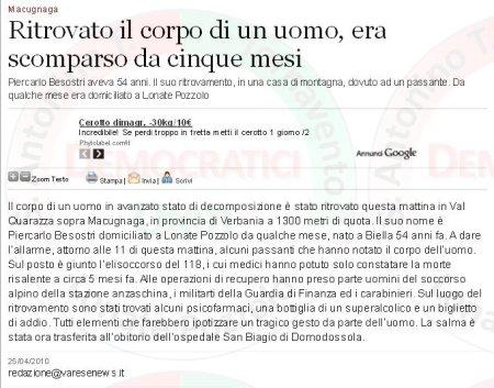 Varesenews del 25 aprile 2010