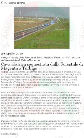 CittàOggiWeb del 29 aprile 2010