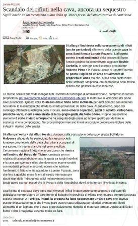 VareseNews del 29 aprile 2010