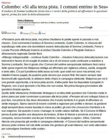 Varesenews del 13 settembre 2005