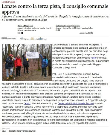 Varesenews del 3 maggio 2010
