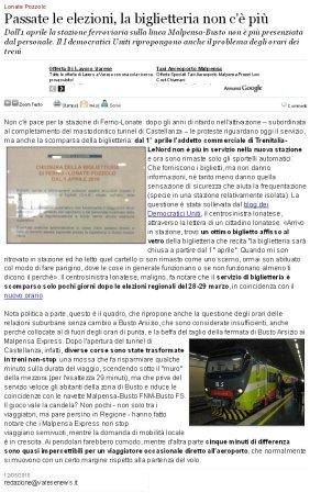 Varesenews del 12 maggio 2010