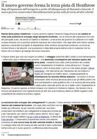 Varesenews del 13 maggio 2010