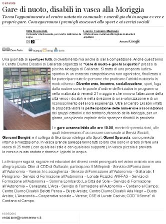 Varesenews del 18 maggio 2010