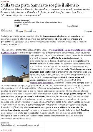 Varesenews del 25 maggio 2010