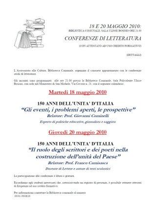 Conferenze di letteratura
