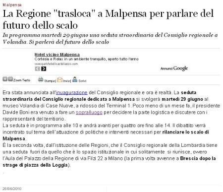 Varesenews del 28 giugno 2010