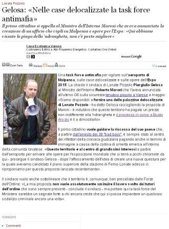 Varesenews del 15 giugno 2010