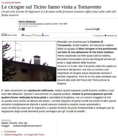 Varesenews del 24 agosto 2010