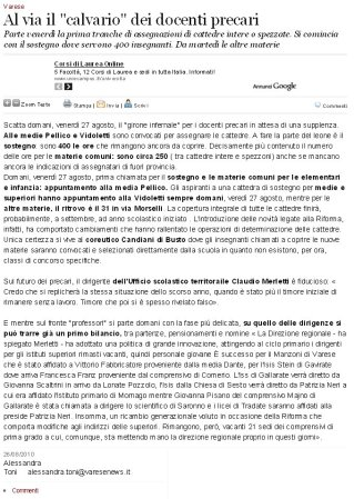Varesenews del 26 agosto 2010