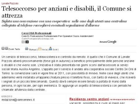 Varesenews del 6 settembre 2010