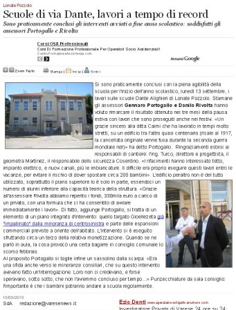 Varesenews del 10 settembre 2010