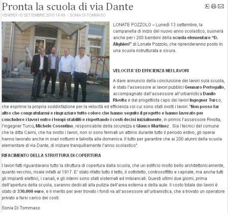 Varesenotizie del 10 settembre 2010