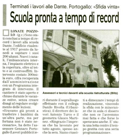 La Prealpina del 11 settembre 2010