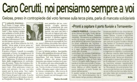 La Prealpina del 16 settembre 2010