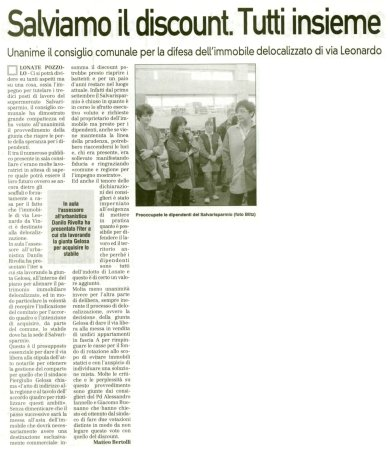 La Prealpina del 18 settembre 2010