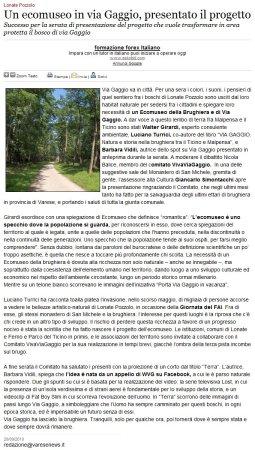 Varesenews del 20 settembre 2010