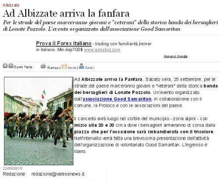 Varesenews del 22 settembre 2010