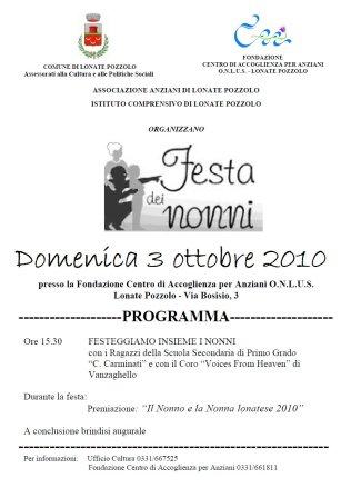 Festa dei Nonni 3 ottobre 2010