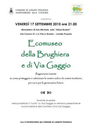 Volantino presentazione Ecomuseo