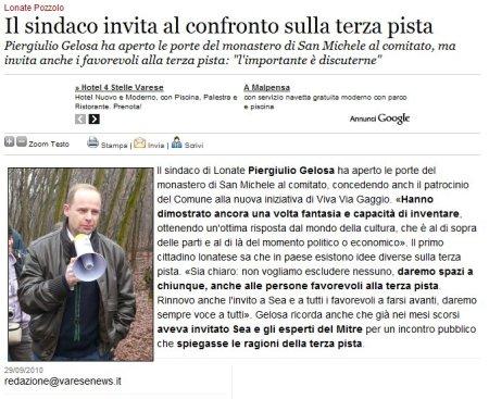 Varesenews del 29 settembre 2010