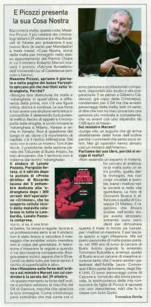 Lombardia Oggi - La Prealpina del 24 ottobre 2010