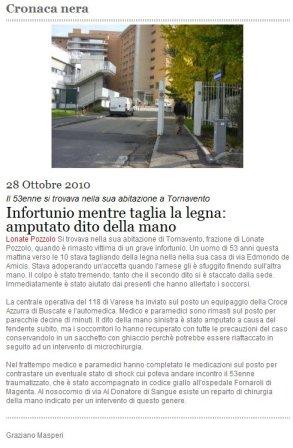 Città Oggi Web del 28 ottobre 2010