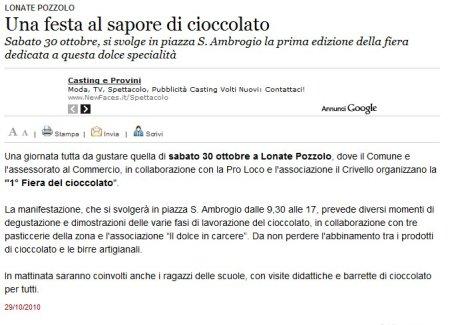 Varesenews del 29 ottobre 2010