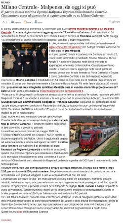 Varesenews del 12 dicembre 2010