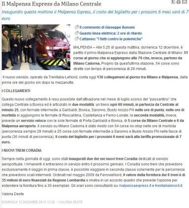 Varesenotizie del 12 dicembre 2010
