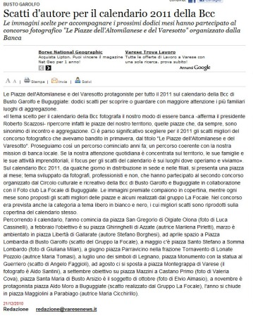 Varesenews del 21 dicembre 2010