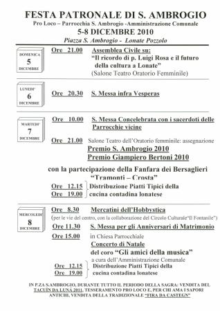 Volantino sagra S. Ambrogio