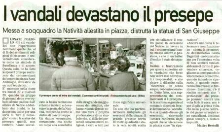 La Prealpina del 31 dicembre 2010