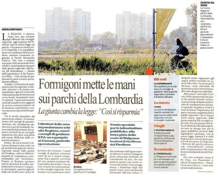 La Repubblica Milano del 1° febbraio 2011