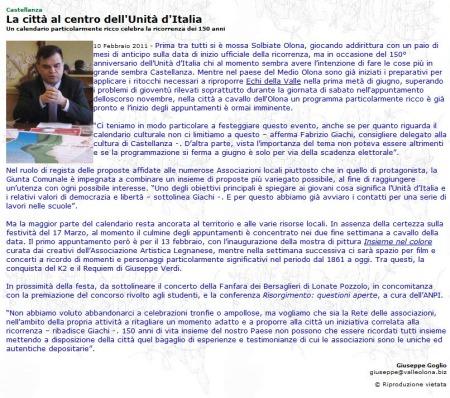 ValleOlona.com del 10 febbraio 2011