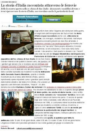Varesenews del 13 febbraio 2011