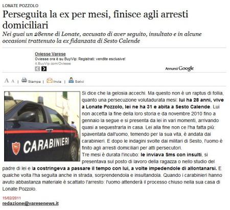 Varesenews del 15 febbraio 2011