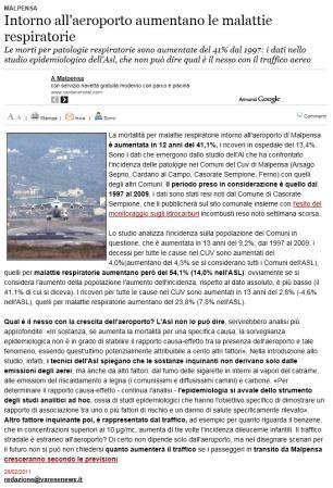 Varesenews del 28 febbraio 2011