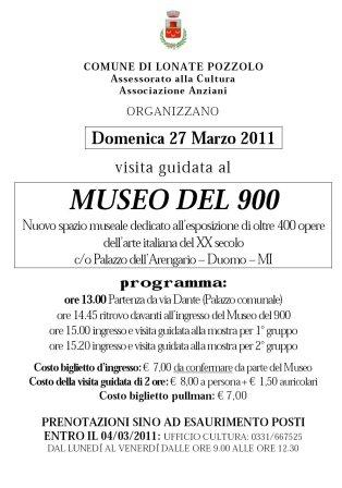 Volantino Museo Novecento