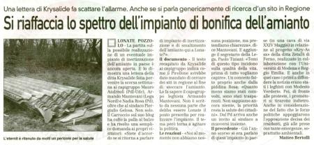 La Prealpina del 2 febbraio 2011