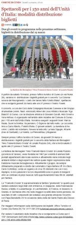 Cuneo online del 14 marzo 2011