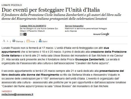 Varesenews del 14 marzo 2011