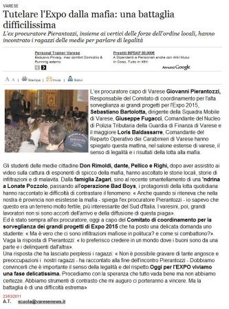 Varesenews del 23 marzo 2011