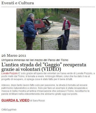Città Oggi Web del 26 marzo 2011