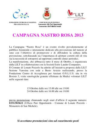 Nastro rosa 2013